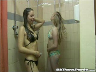 Maisie and Satine get soapy in the showers